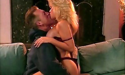 Antique Busty Light-haired April Adams Facial and Cum Kiss