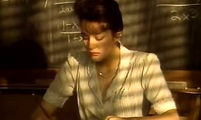 Short haired naughty brunette college professor deep throats strong cock for cum