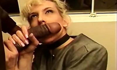Mature Blond Creamed In Her Taut Caboose