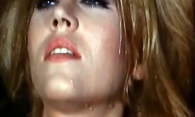 Light-haired reaches orgasm in a weird retro porn video
