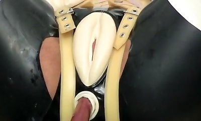 Hottest homemade BDSM, Latex sex video