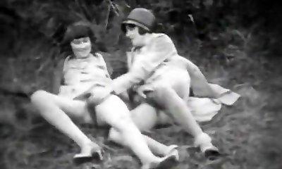 teen dragă și-i anormal sitter (1920 antic)