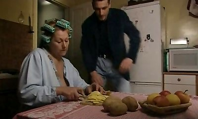 Bored housewife pleasing a youthful man