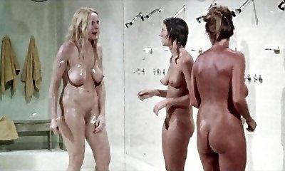 Shower scene from.  Prison Girls,  antique
