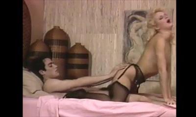 Very nice platinum-blonde in vintage scene