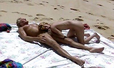 Beach Romp Scene from Retro Movie  hard-core