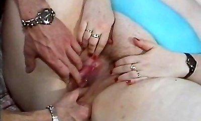 BBW teef geneukt in een retro porno video
