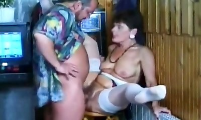 Dirty Blonde Bj's Guy's Hard Cock In Pool Hall