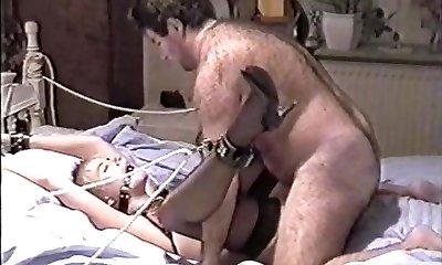 Vintage Amateur Bondage (beautiful girl and hairy fuck)