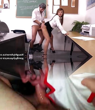 Huge-titted teacher Jenla Moore gets nailed by Kris Slater