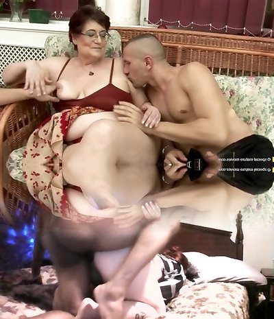Kinky old and young couples at pissing gangbangs