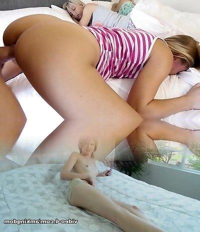 Dad Slinks On Step Daughters While Mummy Sleeps