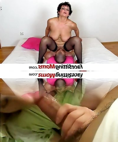 Big boobs lady Greta elder young queening and pussy eating