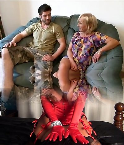 Lucky Stud Fucks His Gfs Mature Mother