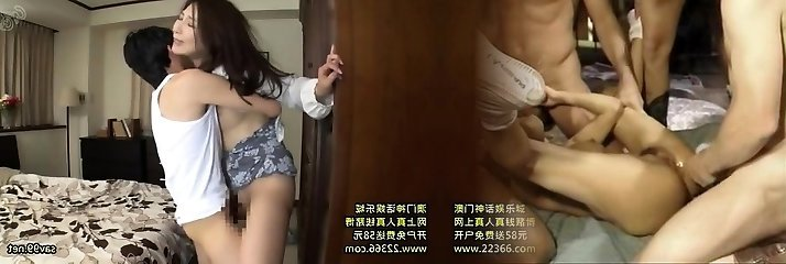Asian Japanese Threesome Creampie and Cumshot
