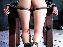 It is a game of mind blowing juxtaposition. First Veruca James is edged repeatedly. She is pushed just to the very edge or orgasm but always denied the pleasure. She is literally begging for the chance to cum when that wish is turned against her. Once she has had her first she is not allowed to stop. Pinned down, she is forced through a dozen body rocking orgasms.