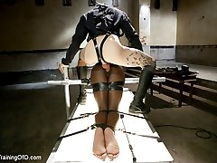 Ana Foxxx is suspended upside down and face fucked by huge cock while her pussy or tormented and denied. Two hot sex and discipline scenes follow that leave our Training of O graduate exhausted, filthy and thoroughly used.