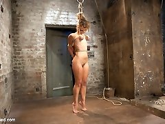 Audrey is an amazing combination of plasticity, hotty, and loves harsh penalizing bondage that makes her submit to our whims. Her live show is no exception. In vignette one she is tied with her wrists together that are brought between her legs and fastened to a pole with a diminutive wood platform. Her ankles are roped open with a pillar and she is given a very uncomfortable wedgie bondage predicament bondage. Her bootie is warmed to a lovely shade of crimson with a thorough hand spanking. In sequence two Audrey is corded in a cruel melon to ankle frogtie suspension that transitions into a partial hair and breast suspension and then ends with her on the floor restrained up by her milk cans, hair, and elbows. Her eyes roll back into her head as she is repeatedly subjected to immensely intense restrain bondage ejaculations. In sequence three she is strung up by her ankles with her hands bound to a 2 x Four crucifixion style. This horny woman brought her own personal ache toy for Claire to use on her. It becomes obvious that she has never quite used it the way Claire knows full well how to administer on her vulnerable arms and hips. In the final position, Audrey is frog tied and positioned on a chair to expose her delicate bits. Claire adds a zip strip to her hips and heads after stroking every orgasm this bitch has out of her hole. All live... all for your sheer pleasure.