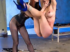 Maitresse Madeline and Tia Ling reunite after three years for another explosive LIVE Flagellated Ass update! Tia was Madeline's second shoot ever at Kink which gives Madeline a delicate spot for Tia. Tho, she's anything but mushy when it comes to dominating her. If you missed this show LIVE here's your opportunity to witness all the action crammed footage edited to all the best parts! Tia and Madeline's connection jumps from the screen and Tia stays one of the toughest slaves to walk through the door of The Armory. An update not to be missed! Included are suspension restrain bondage, squirting, fisting, ass licking, brutal clamps, whipping, spanking, candle paraffin wax, abasement and wire-on caboose pulverizing!
