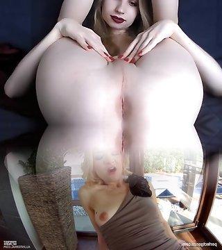 бледный тощий блондинка tgirl
