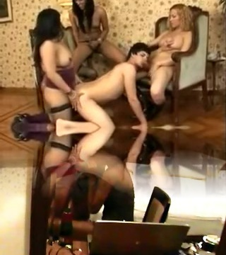 Horny Amateur Shemale clip with Gangbang, Lingerie gigs