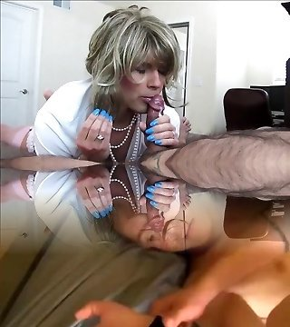 Sexy Crossdresser Sucks and Penetrates