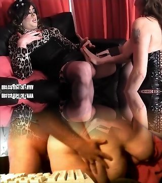 Scorching tgirl has foot wank and backside fuck while cums on big jugs