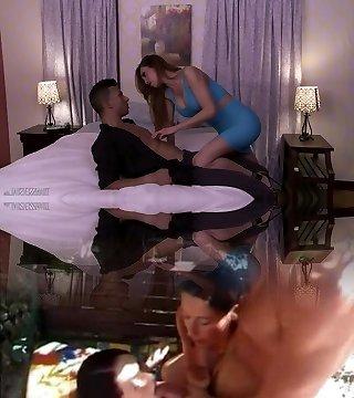 Leggy ts cool lady Sunday Valentina takes sloppy stiffy into her anus