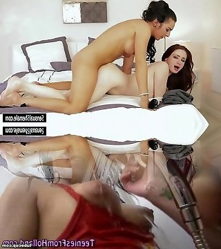Spectacular Ts Chanel Santini licks and fucks Violet's pussy