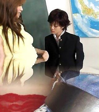 Horny Japanese chick Mami Shindo, Sayaka Kusunoki in Greatest Blowjob JAV pinch