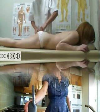Subtitled Japanese newhalf t-model naked butt massage