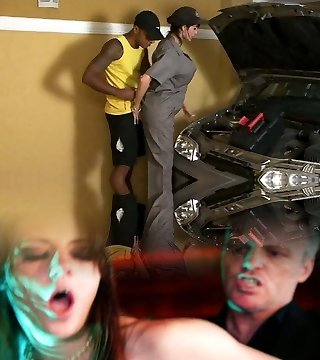 T Milf Fixes Car But Gets Her Exhaust Jizz-shotgun Worked Out