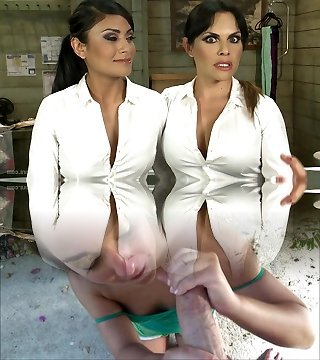 Panty Hose Factory Workers Ravage on the Assembly Line
