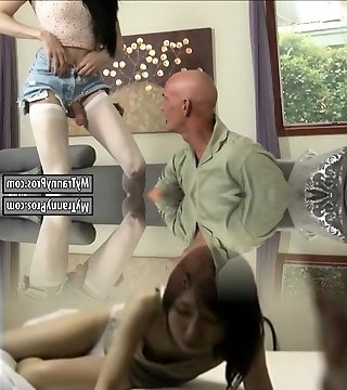 Skinny shemale Penny Tyler asshole rammed in stocking