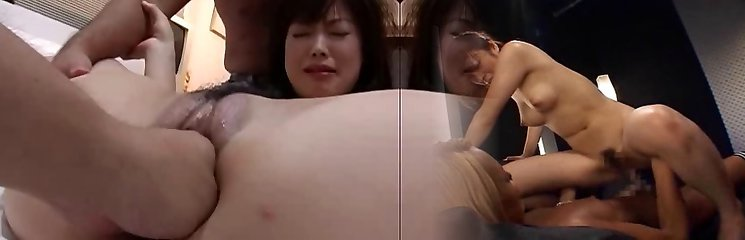 Tough anal fisting and asian girl double fuck