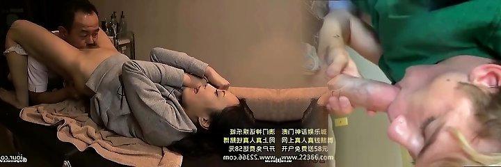 Kinky double chinese blowjob and hardcore smashing session