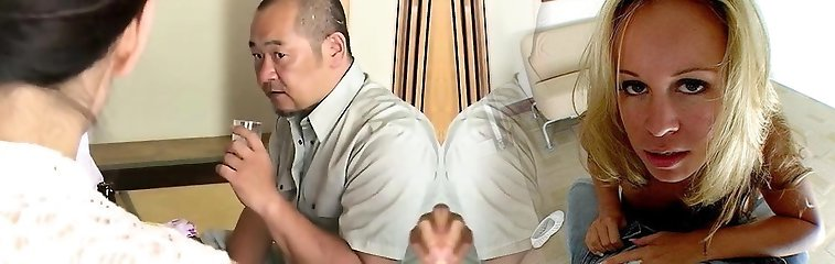 Japanese hairy twat finger-tickling