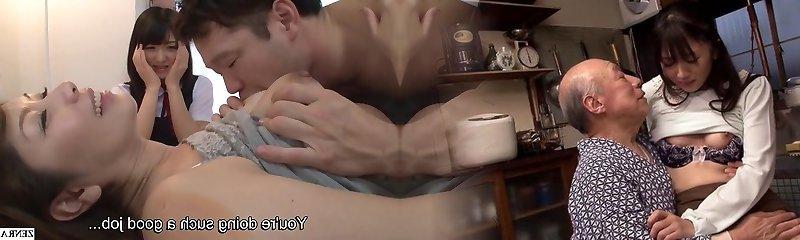 Subtitled JAV ultra-kinky mother gives daughter sex ed lesson