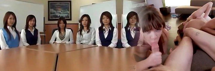 Amazing Japanese chick in Incredible POV, Blowjob JAV movie