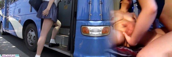 Schoolgirl Yuna asian blow-job and public fuck