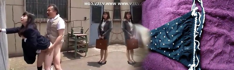 Hottest Japanese bitch Hitomi Fujiwara, Mina Yoshii in Handsome Doggy Style, Outdoor JAV movie