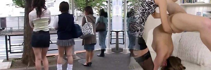 japanese lesbian schoolgirls petting on bus