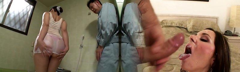 Horny Japanese bi-atch in Amazing HD, Mature JAV video