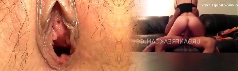 Amazing amateur Creampie, Close-up hard-core sequence