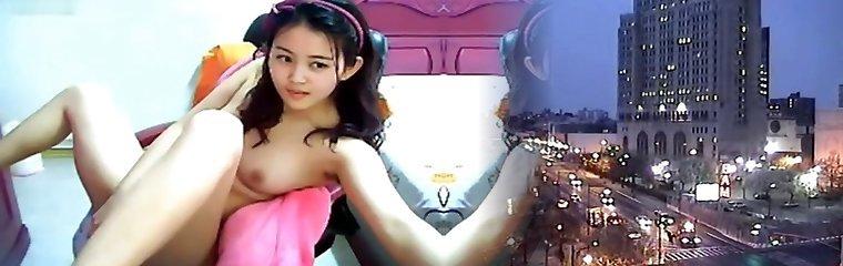 Cute Korean teen plays on cam