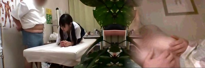 Japanese college girl (18+) fucked during medical exam