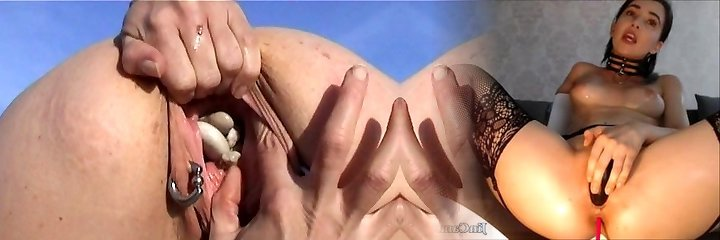 Shagging with Beach Stones Weird and Freaky Pussy Insertions