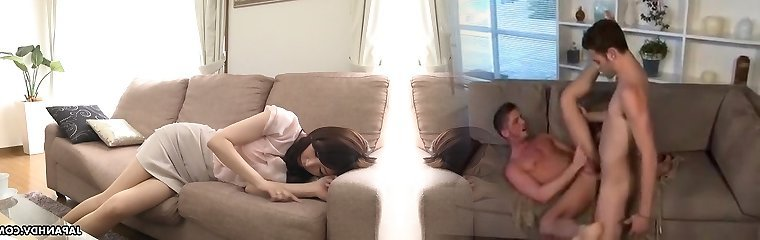 Adorable Japanese cutie Noeru Mitsushima is prepped to give a Bj during interview