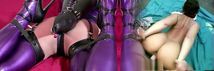 Bondage In Purple Latex