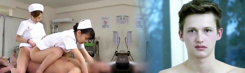 Amazing Japanese fuckslut Yuki Aoi, Yumemi Nakagawa, Nachi Sakaki in Wild Handjobs, Nurse JAV flick